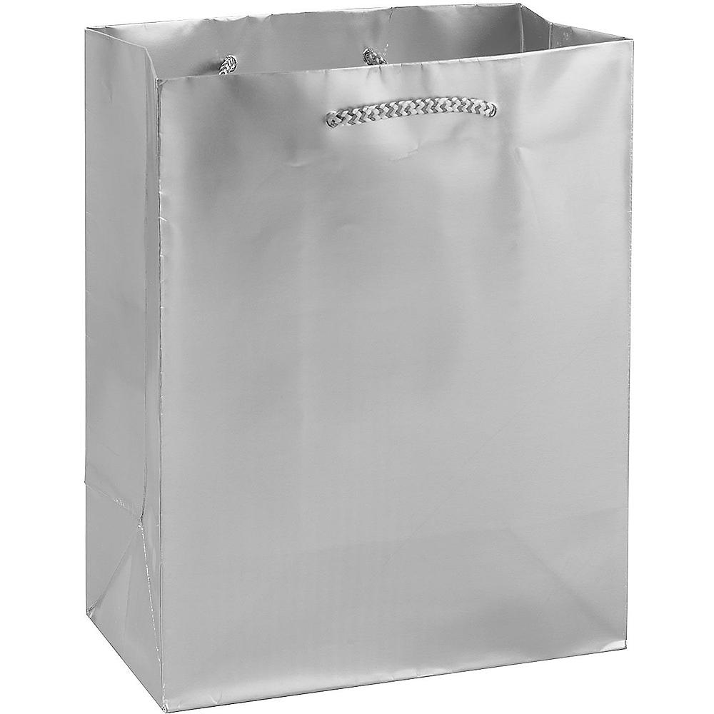 Large Metallic Silver Gift Bag Image #1