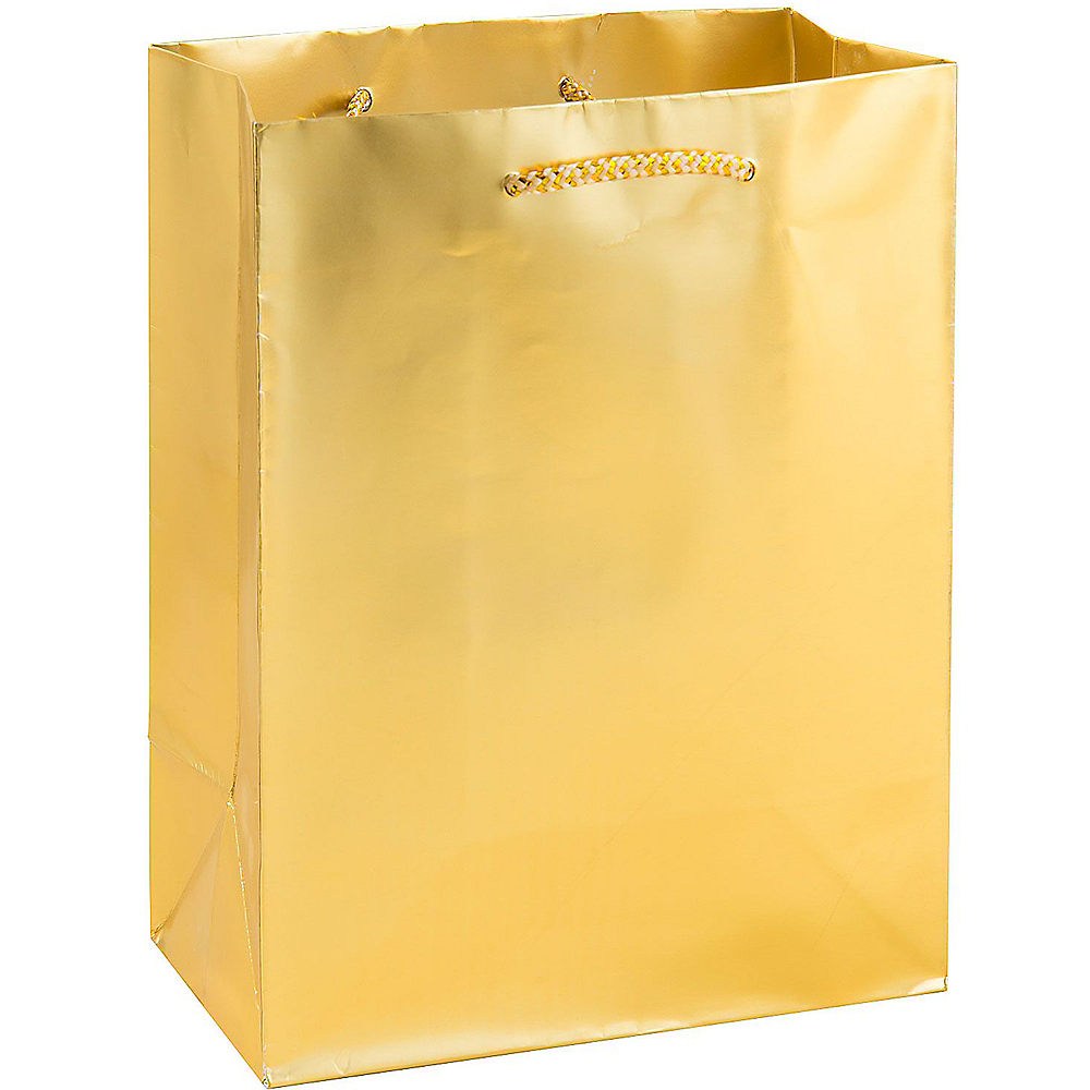 Large Metallic Gold Gift Bag Image #1
