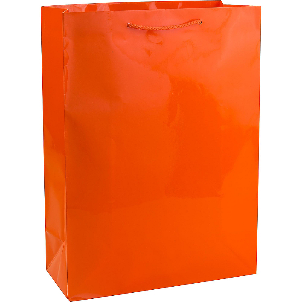 Large Orange Gift Bag Image #1