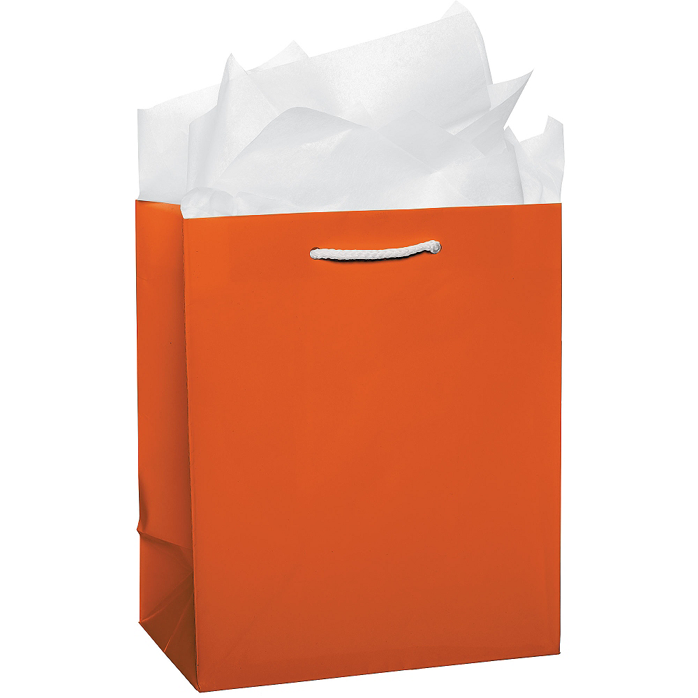 Large Orange Gift Bag Image #2