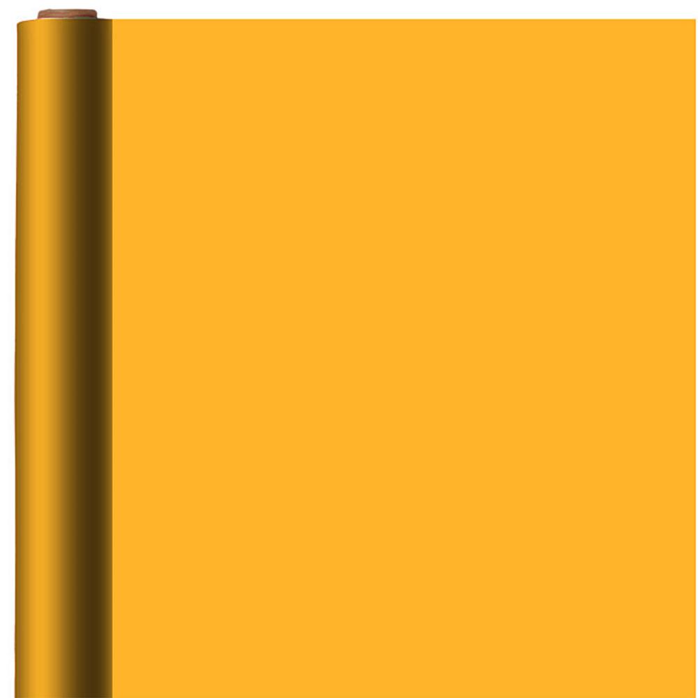 Jumbo Solid Bright Orange Gift Wrap Image #1