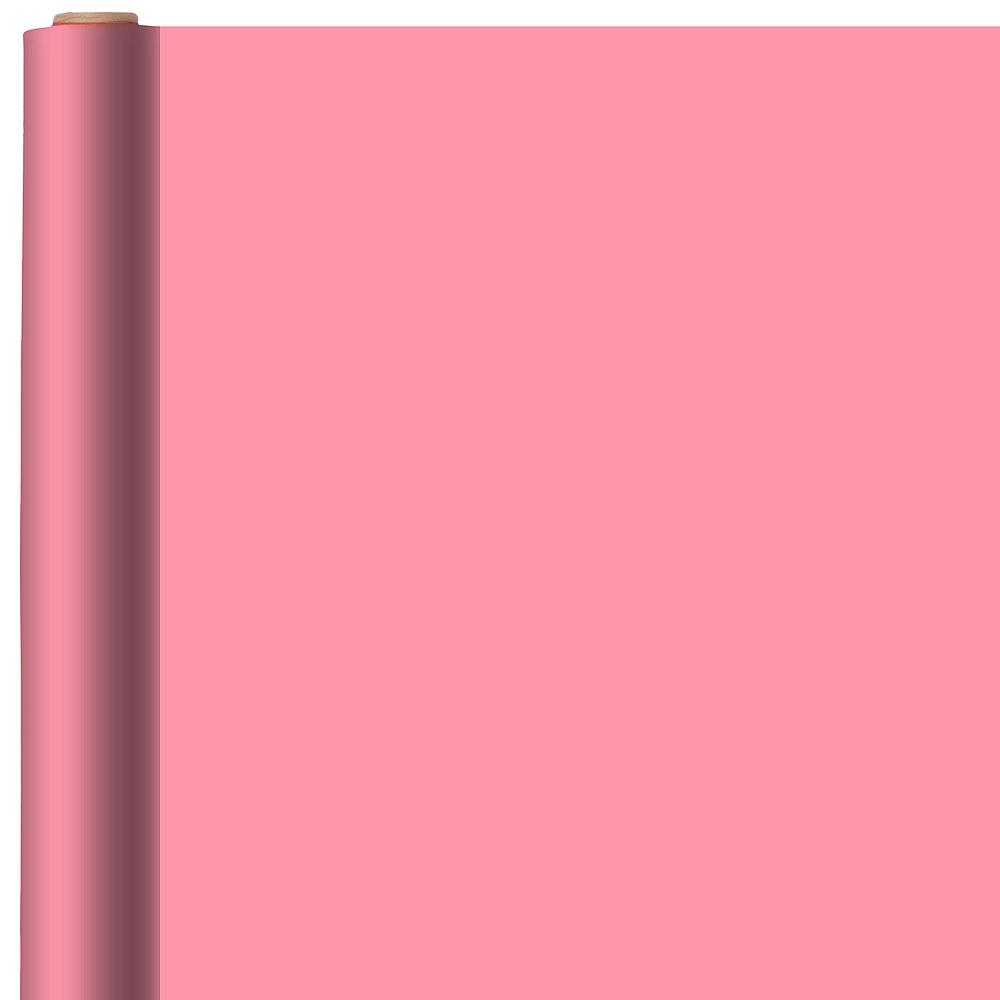 Jumbo Solid Pink Gift Wrap Image #1