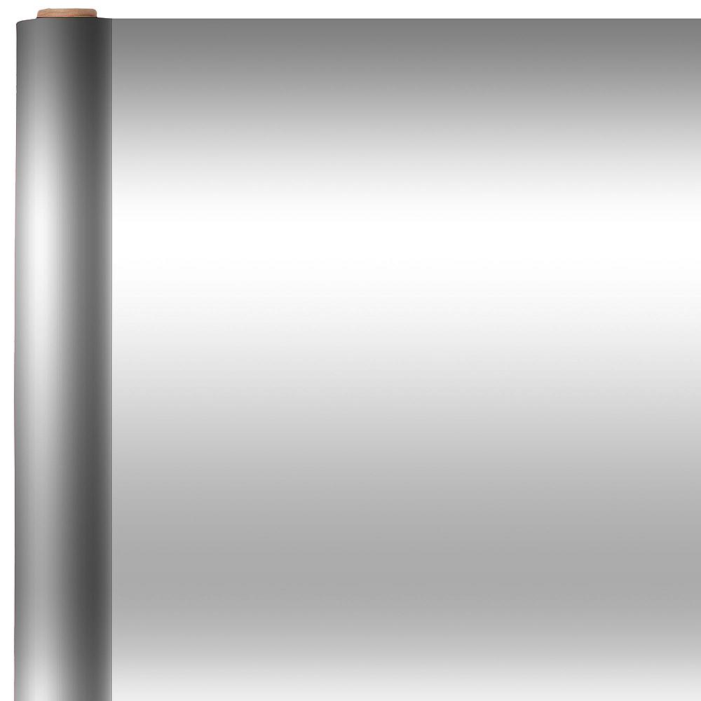 Jumbo Solid Silver Gift Wrap Image #1