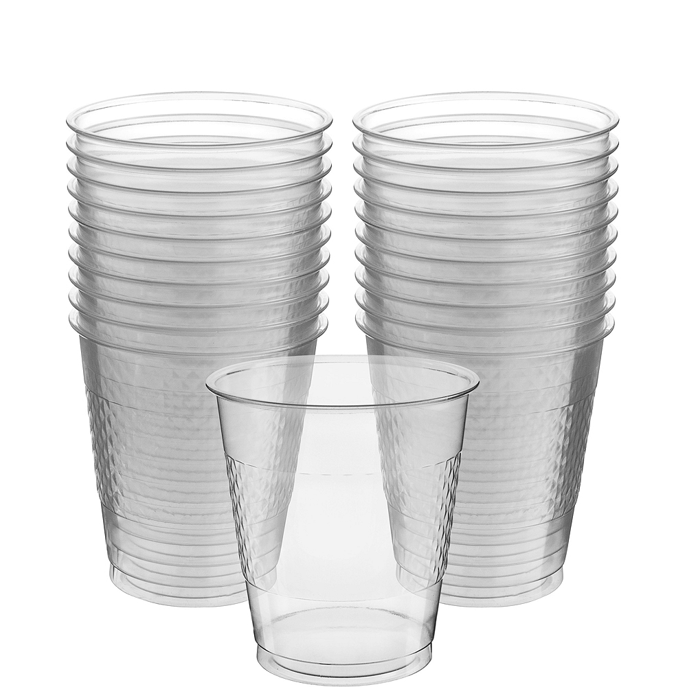 CLEAR Plastic Cups 20ct Image #1