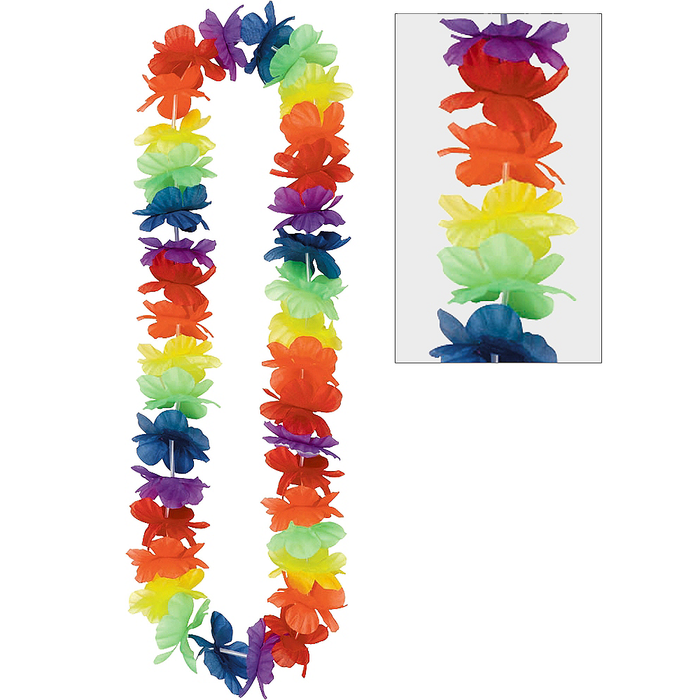 Rainbow Hawaiian Lei Image #1