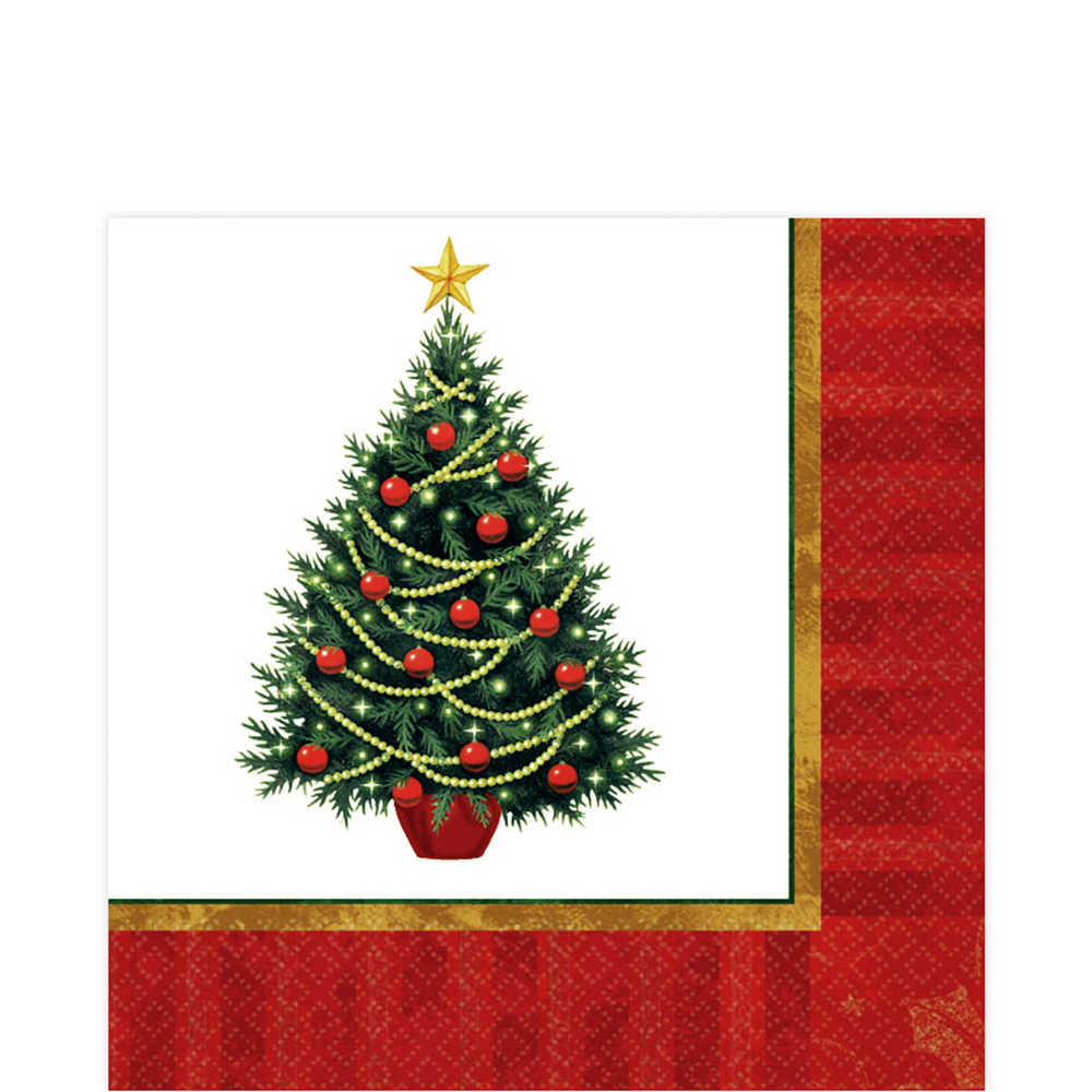 Twinkling Tree Lunch Napkins 100ct Image #1