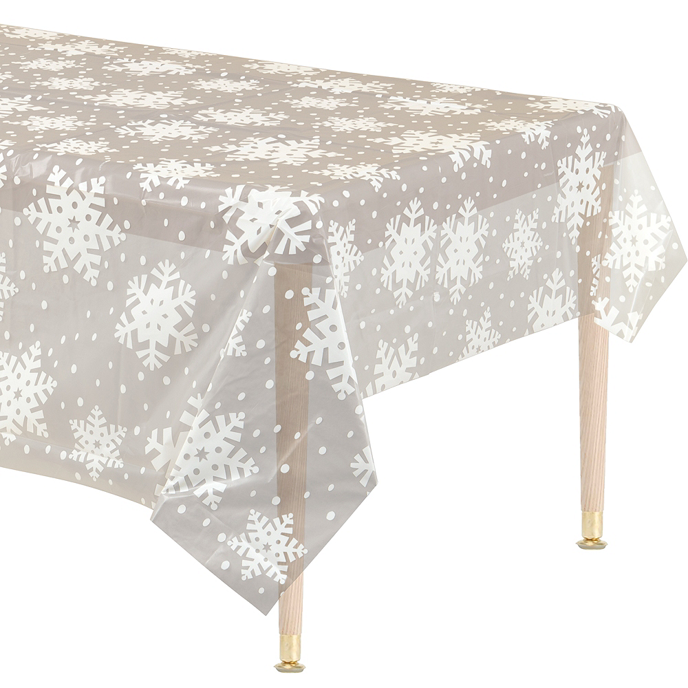 Clear Snowflake Table Cover Image #1