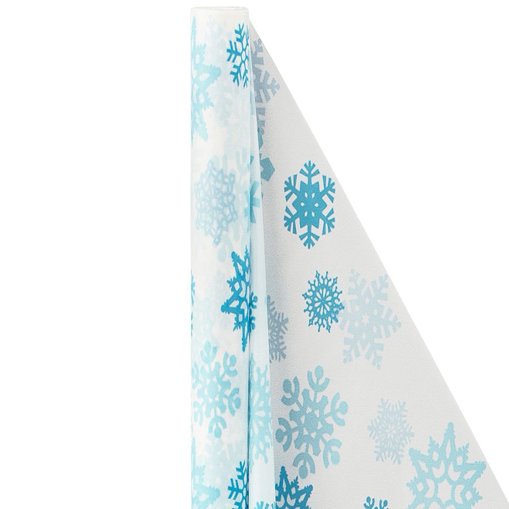Blue Snowflake Table Cover Roll Image #1