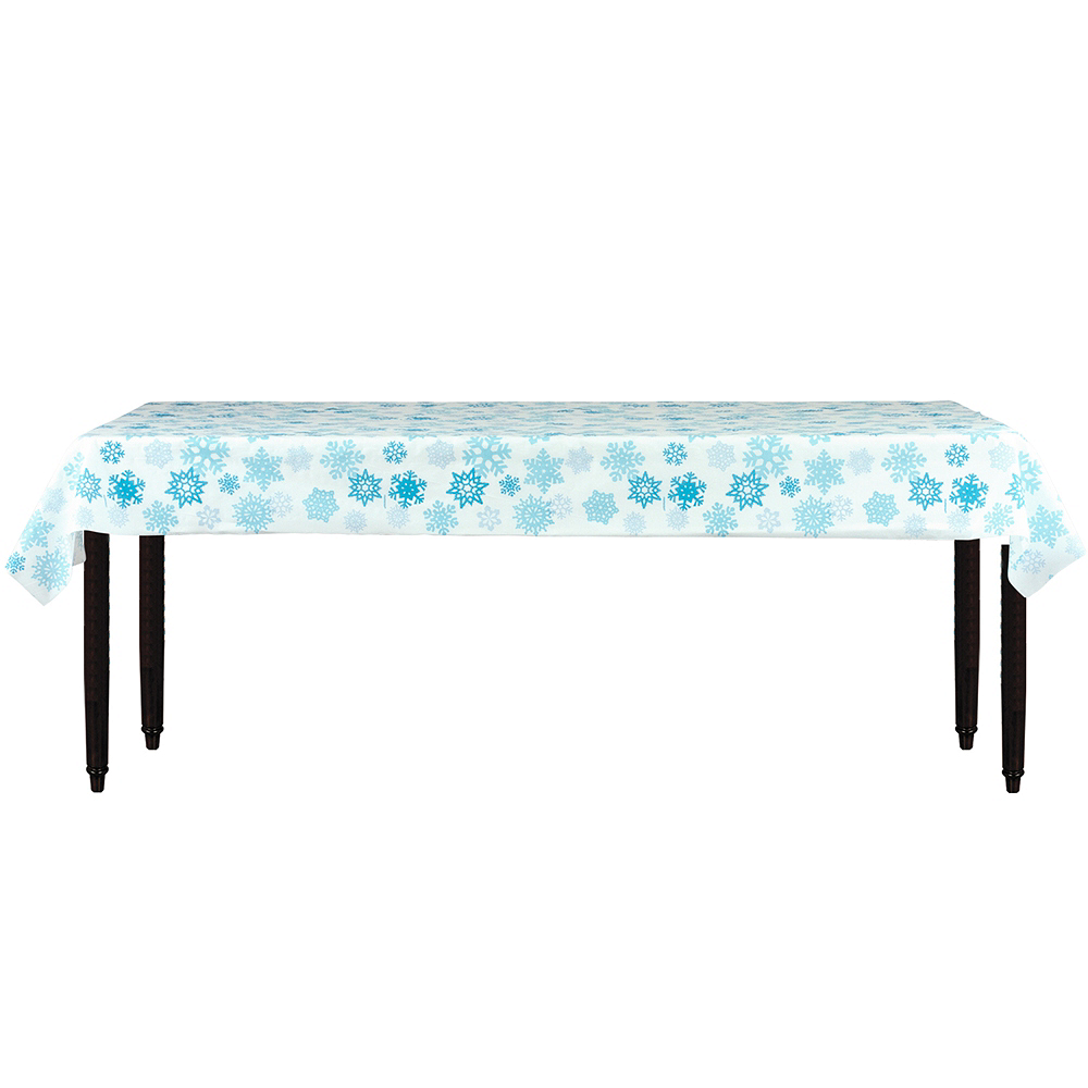 Blue Snowflake Table Cover Roll Image #2