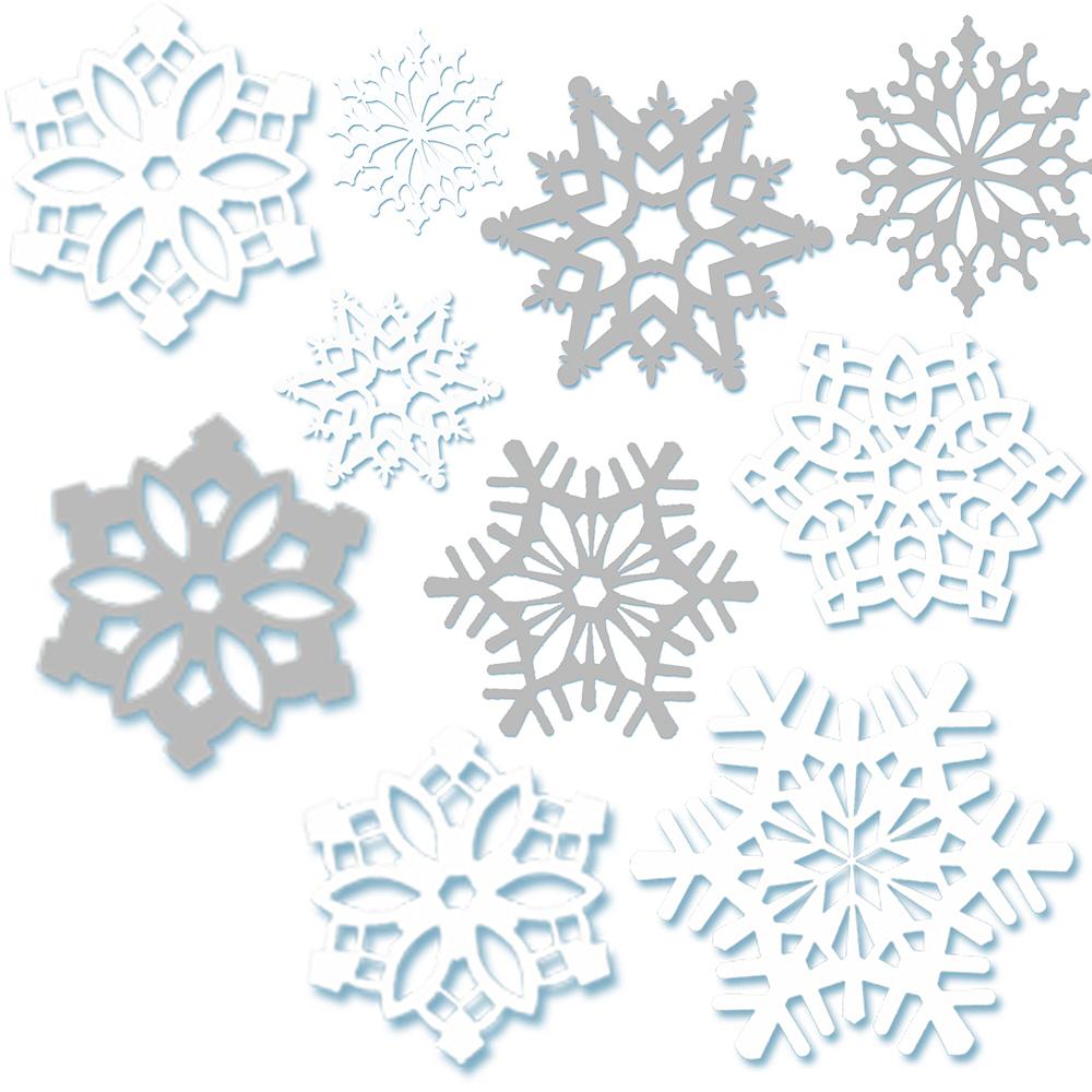 snowflake cutouts 30ct party city