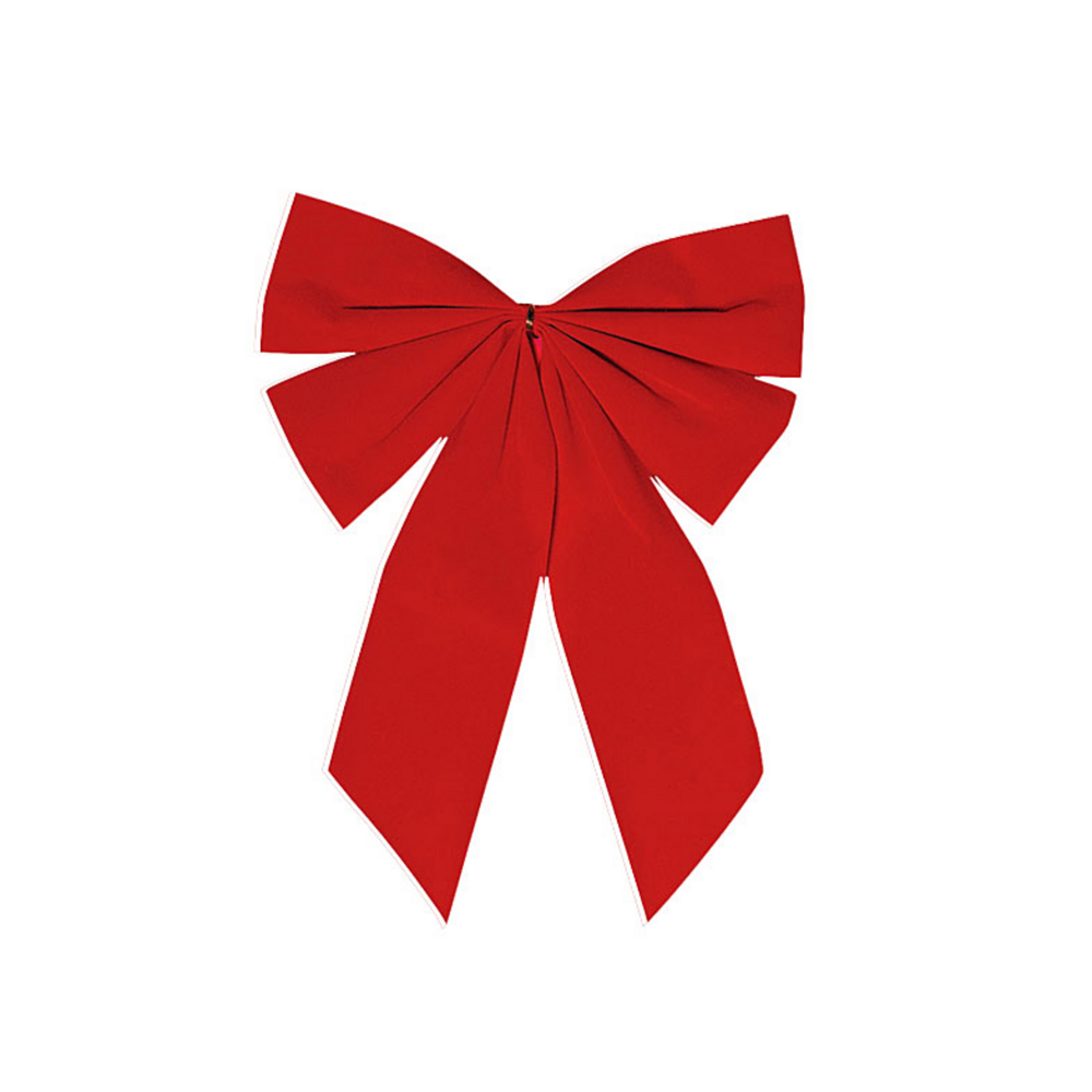 Red Velveteen Holiday Bow Image #1