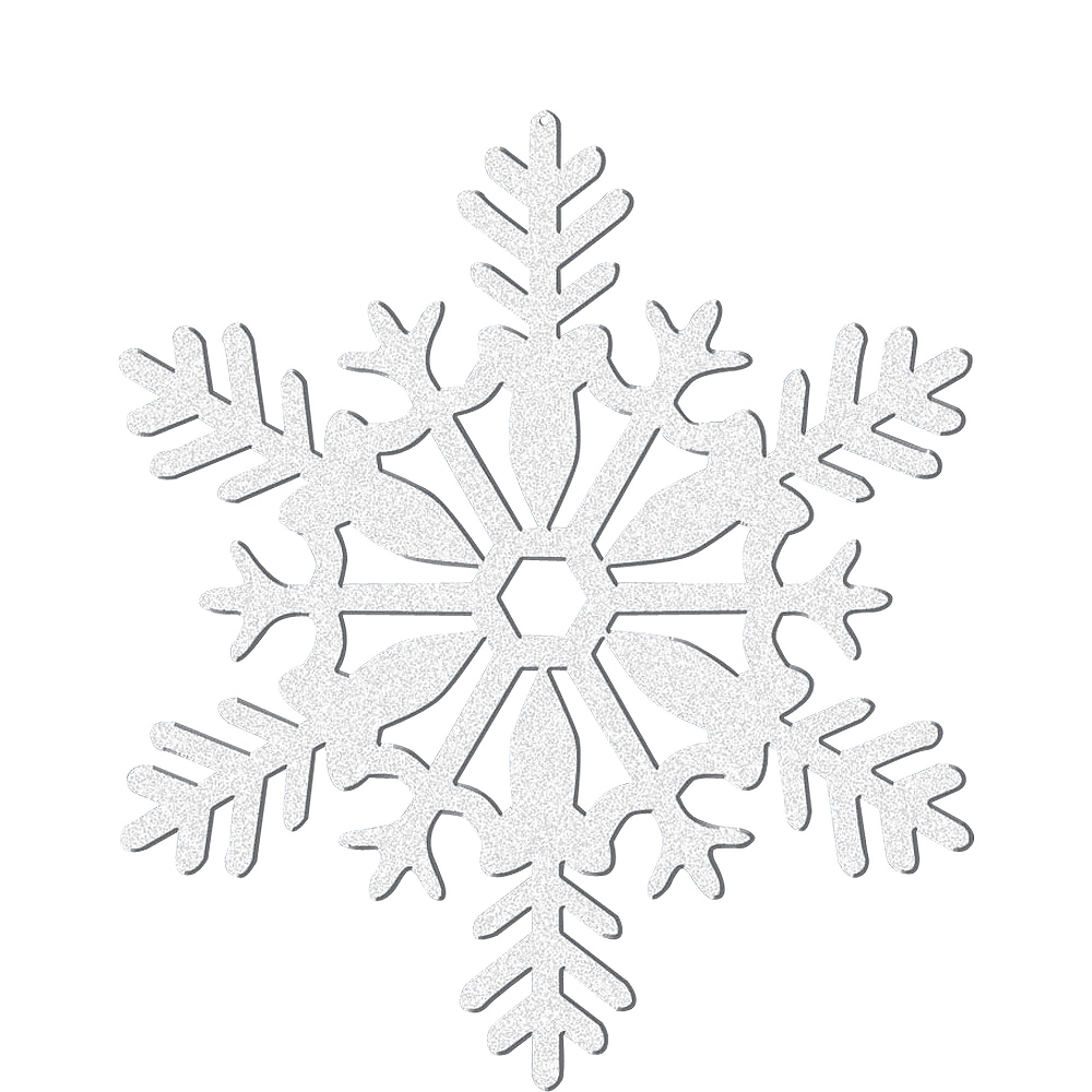 Nav Item for Glitter White Snowflake Image #1