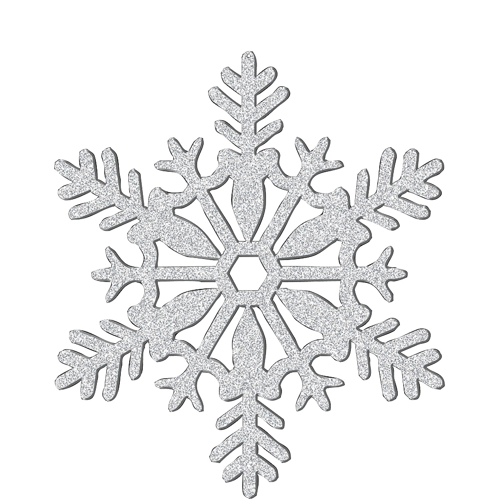 Glitter Silver Snowflake 11in | Party City