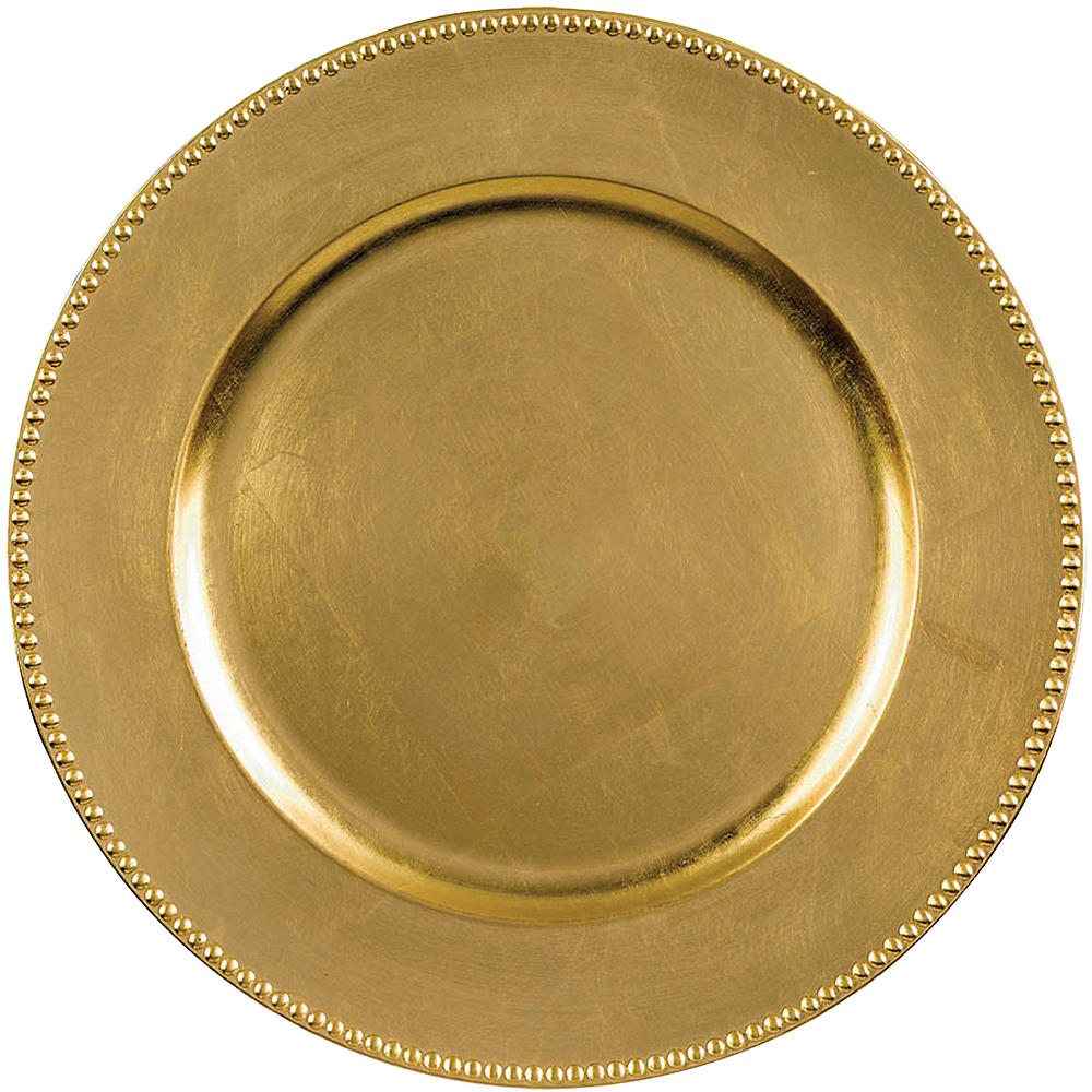 Nav Item for Gold Plastic Charger Image #1