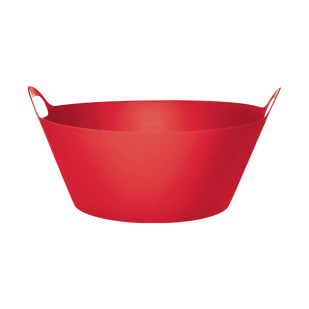 Red Plastic Party Tub Image #1