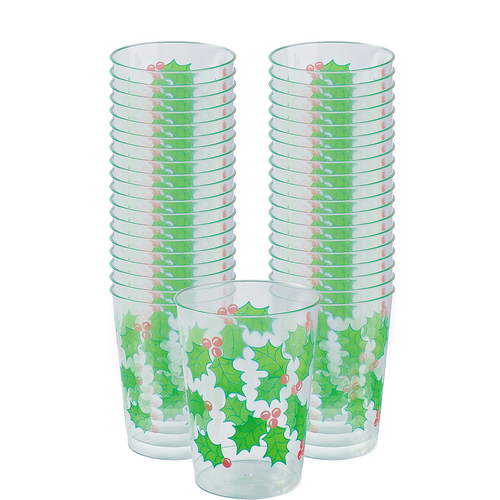 Holly Tumblers 40ct Image #1
