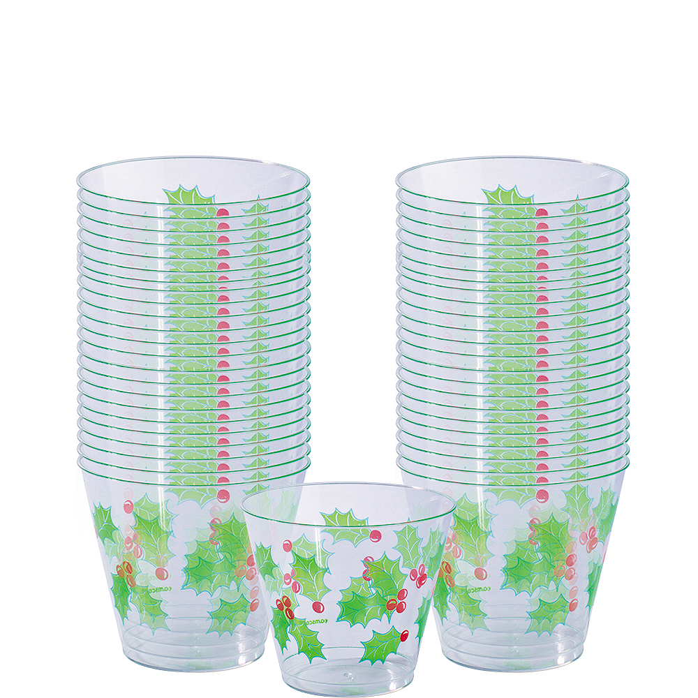 Holly Cups 40ct Image #1