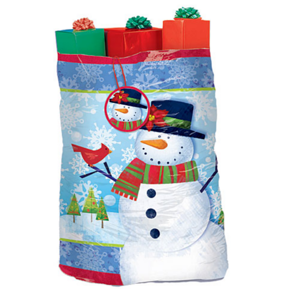 Frosty Friends Gift Sack 44in x 56in | Party City Canada