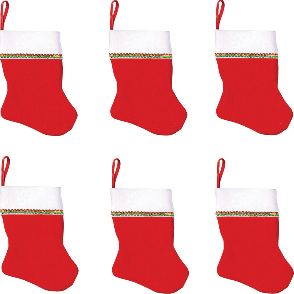 small christmas stockings 6ct party city