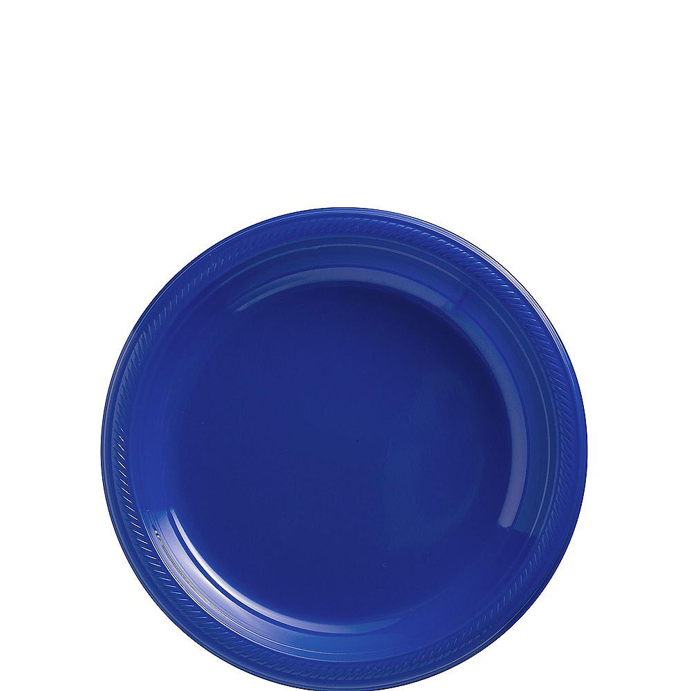 Royal Blue Plastic Dessert Plates 20ct Image #1