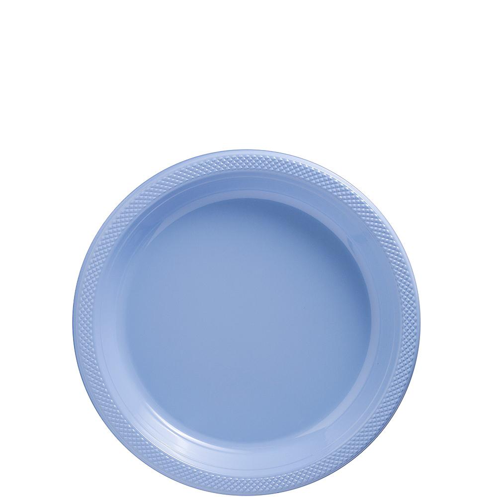 Pastel Blue Plastic Dessert Plates 20ct Image #1