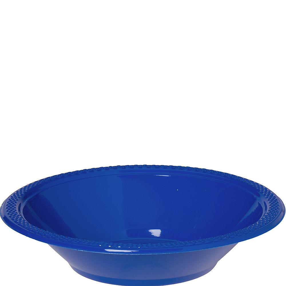 Royal Blue Plastic Bowls 20ct Image #1