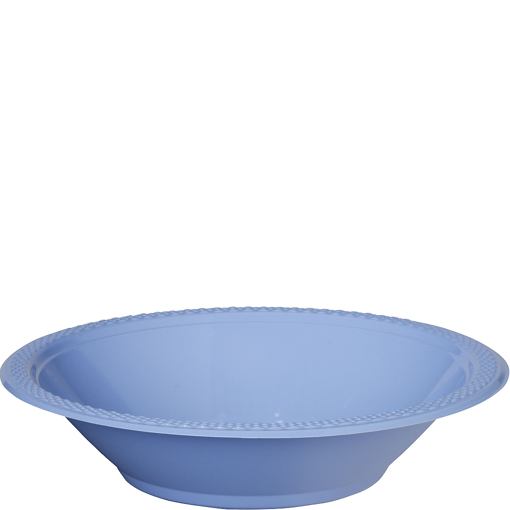 Pastel Blue Plastic Bowls 20ct Image #1