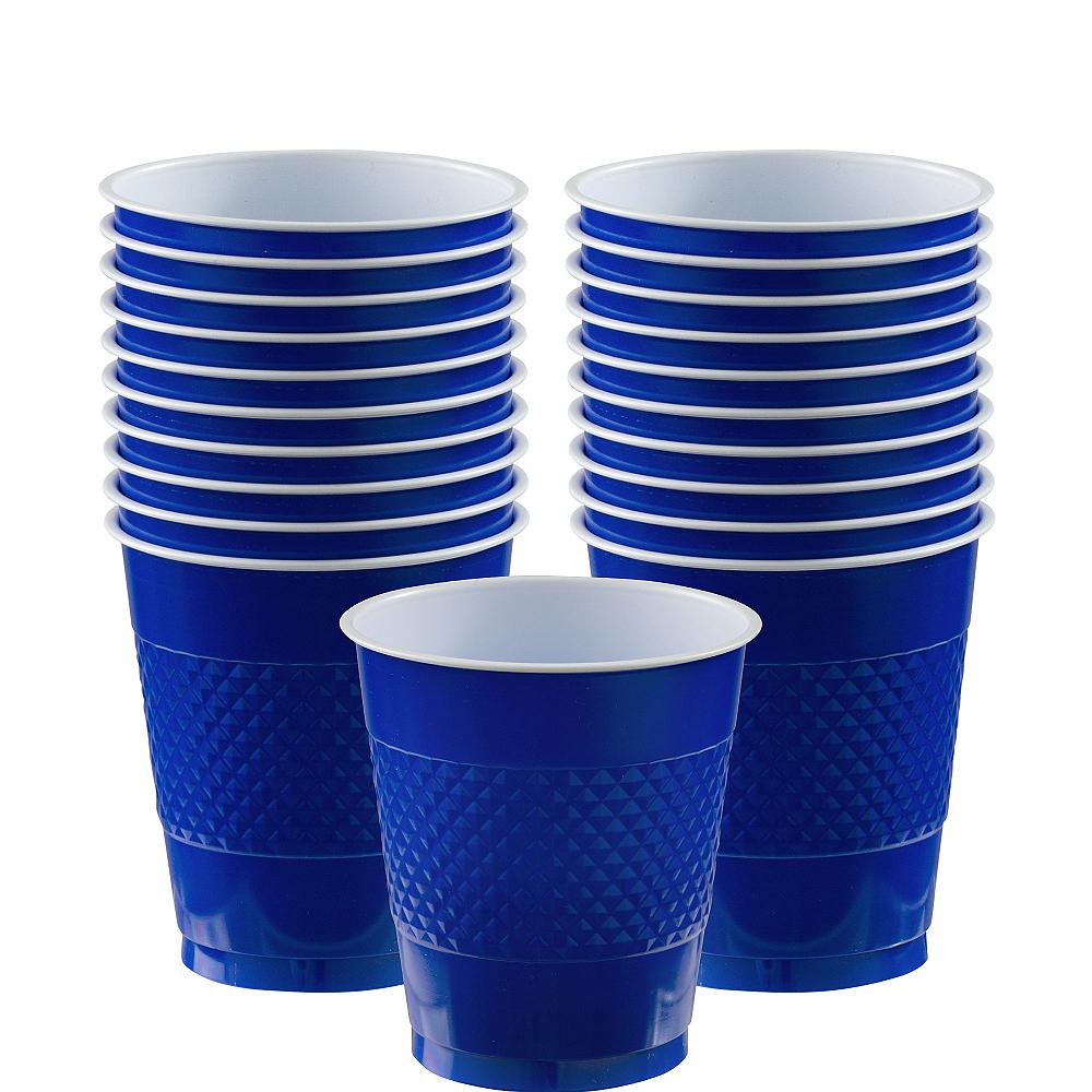 Royal Blue Plastic Cups 20ct Image #1