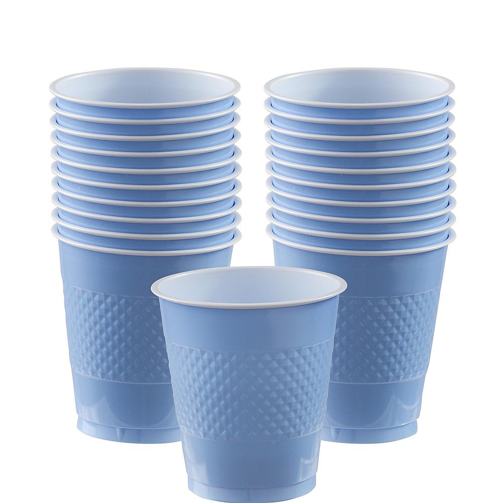 Pastel Blue Plastic Cups 20ct Image #1