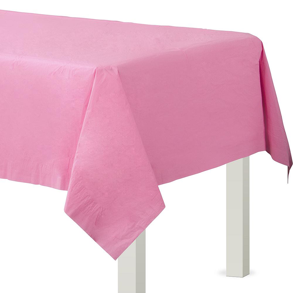 Pink Paper Table Cover Image #1