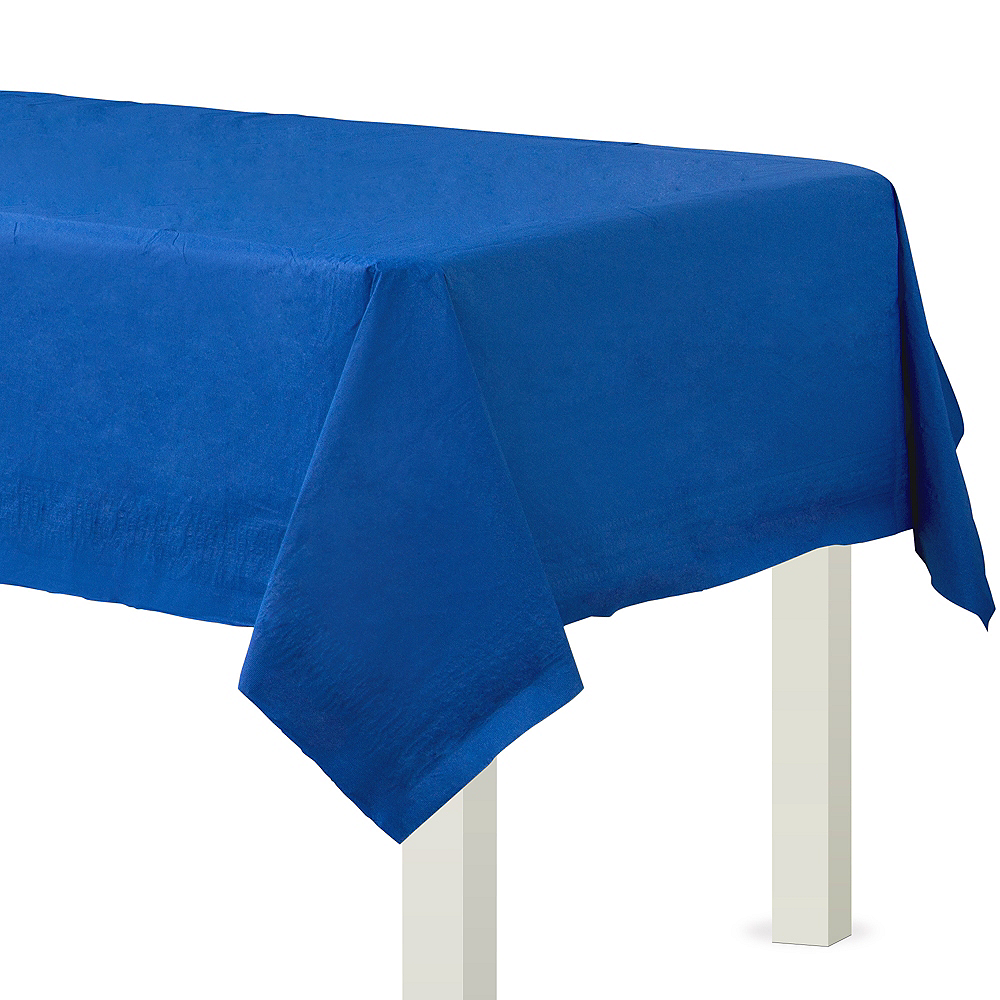 Royal Blue Paper Table Cover Image #1