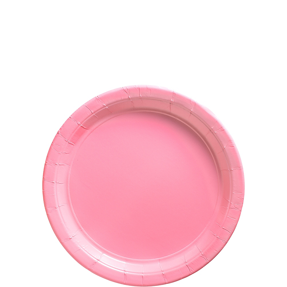 Pink Paper Dessert Plates 20ct Image #1