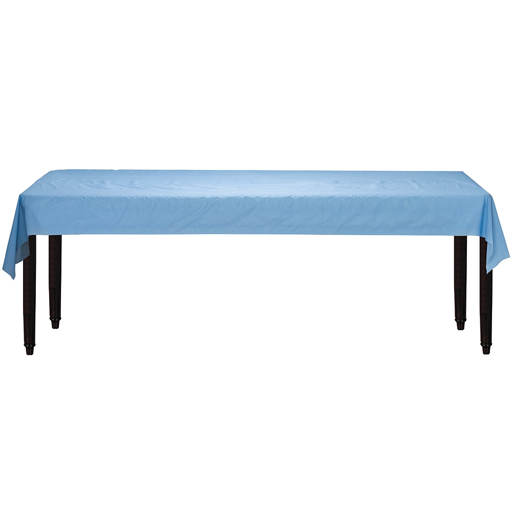 Pastel Blue Plastic Table Cover Roll Image #2