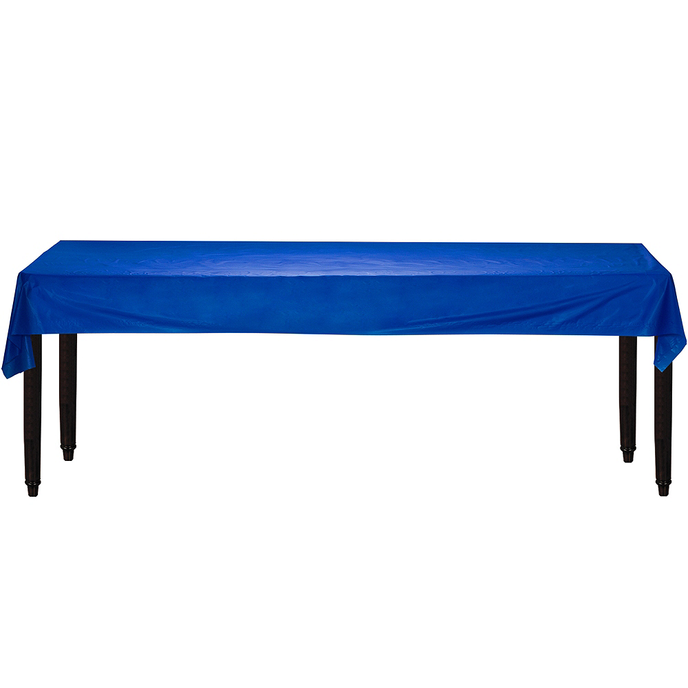 Royal Blue Plastic Table Cover Roll Image #2