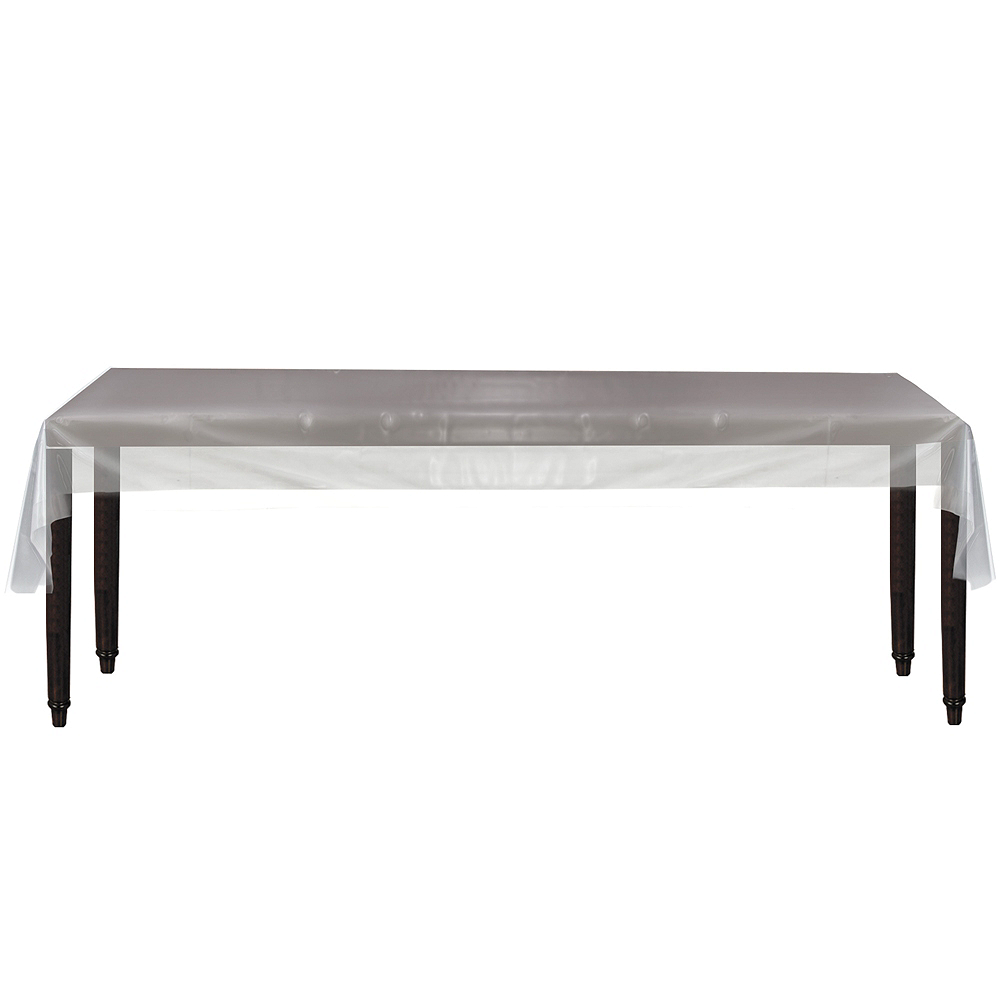 CLEAR Plastic Table Cover Roll Image #2