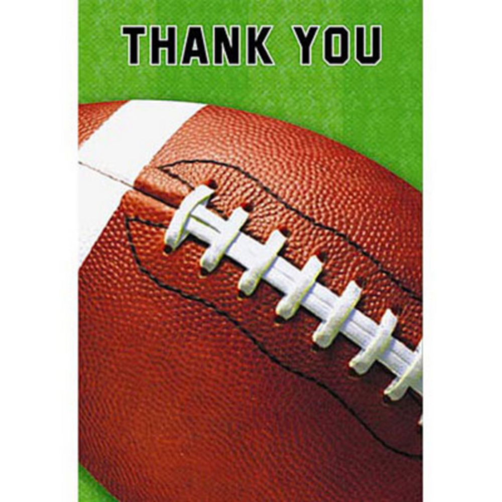 Football Fan Thank You Notes 8ct Image #1