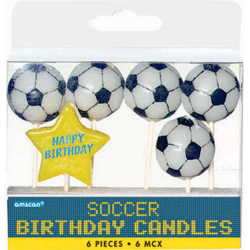 Soccer Birthday Candles 6ct Image #1