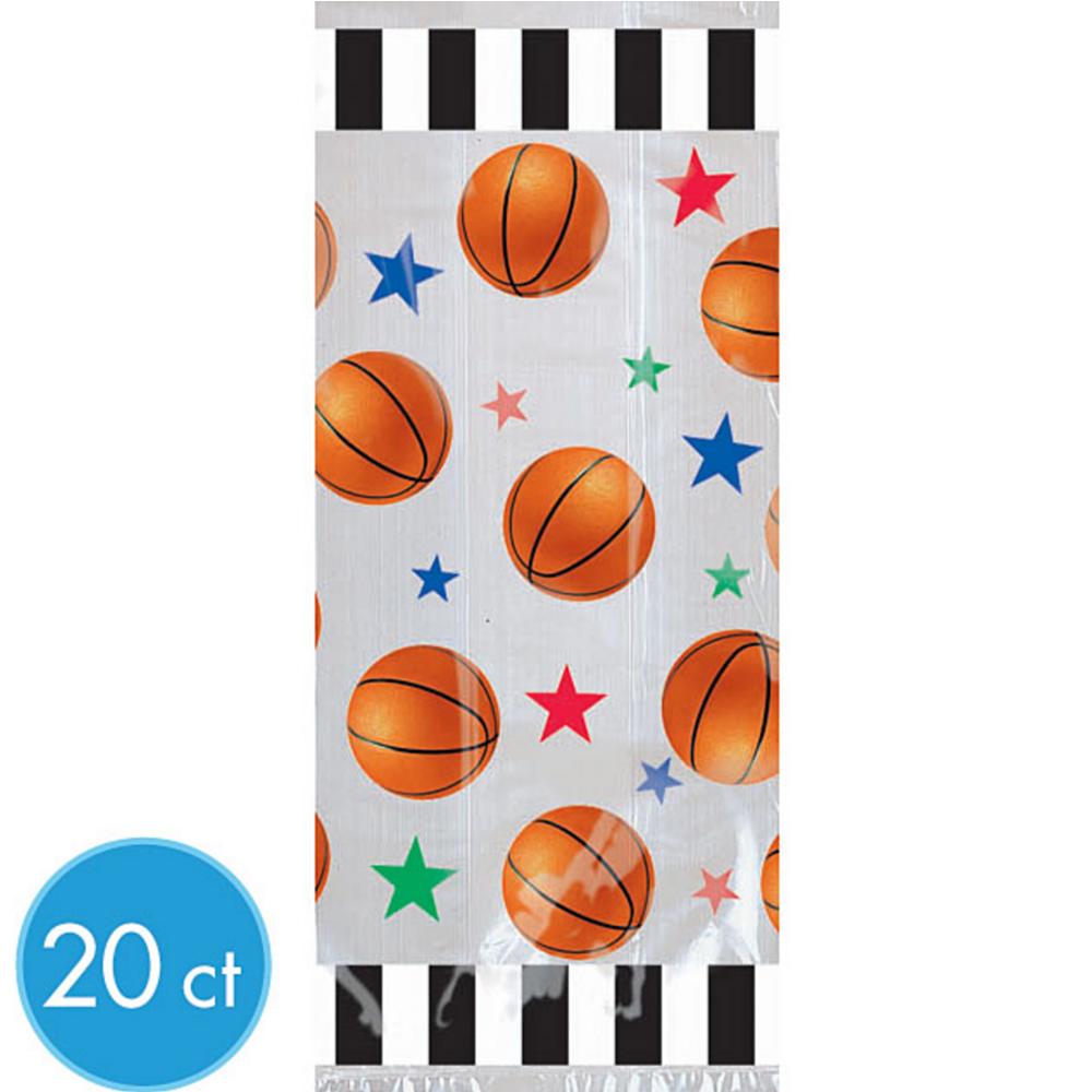 Large Basketball Favor Bags 20ct Image #1