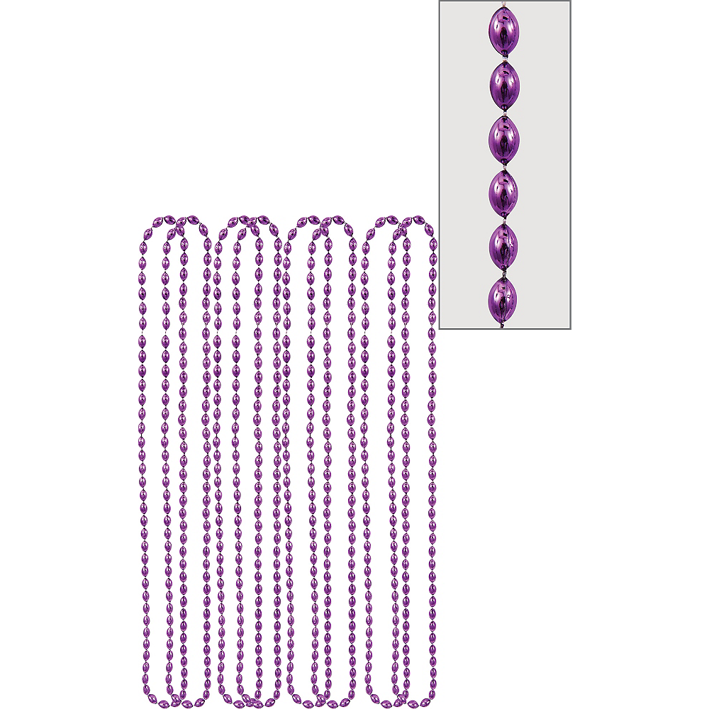 Metallic Purple Bead Necklaces 8ct Image #1