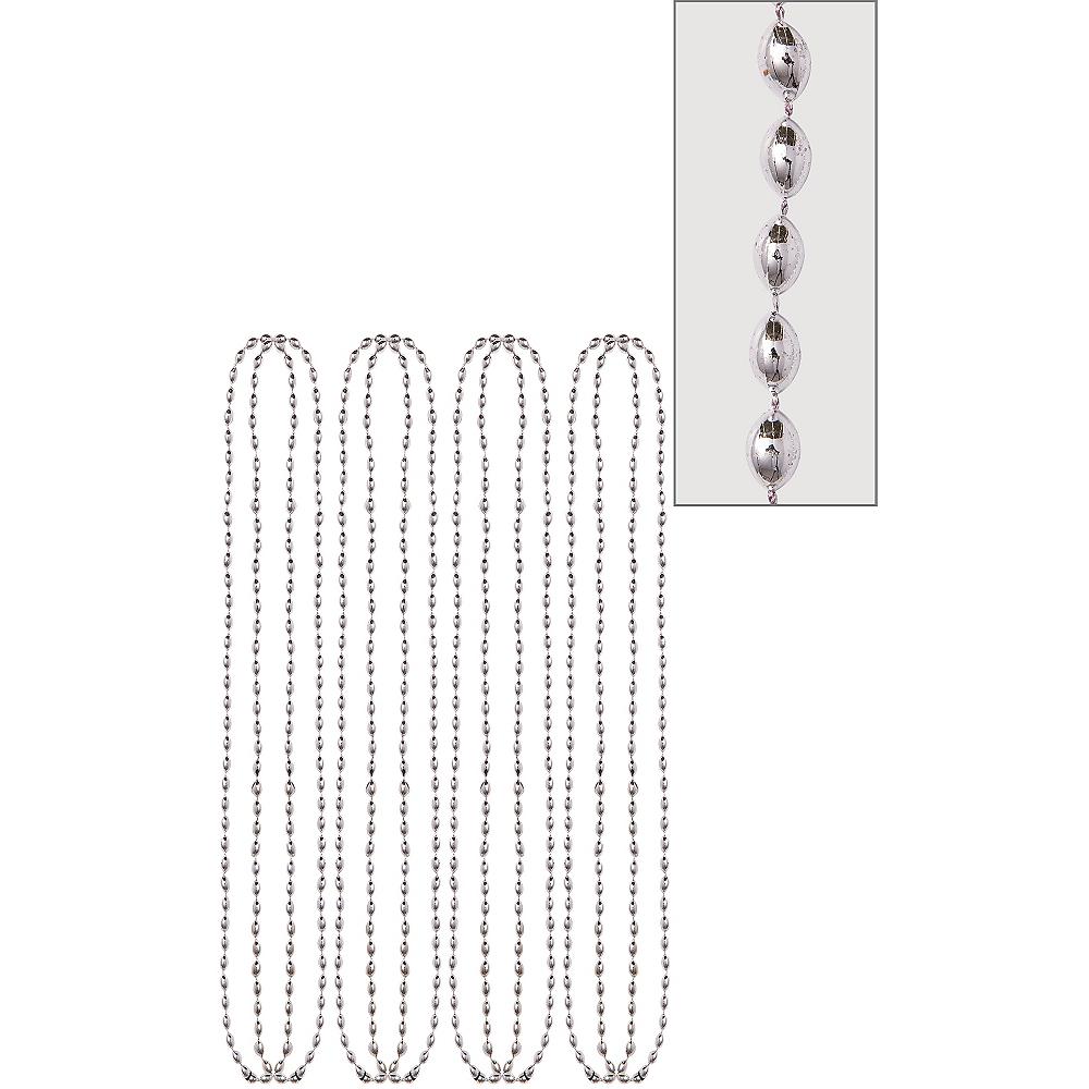 Metallic Silver Bead Necklaces 8ct Image #1