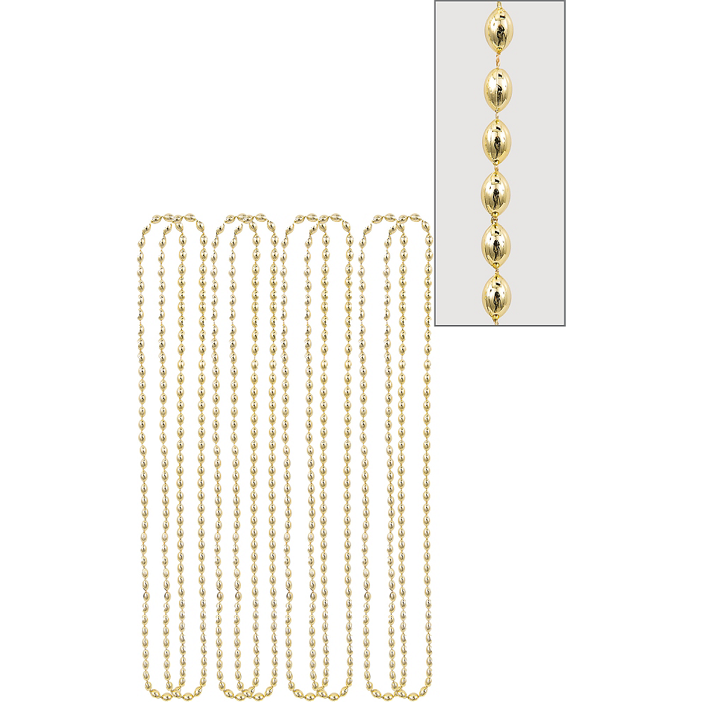 Nav Item for Metallic Gold Bead Necklaces 8ct Image #1