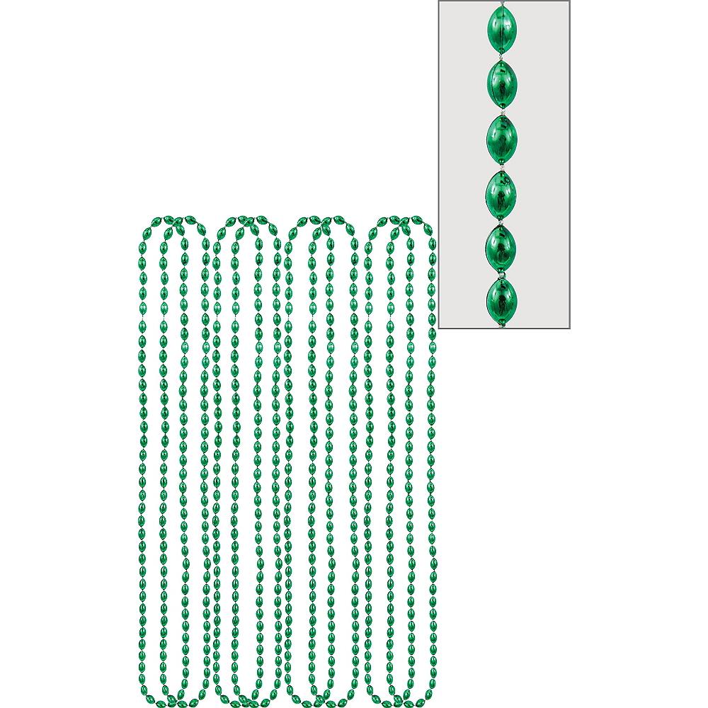 Metallic Green Bead Necklaces 8ct Image #1