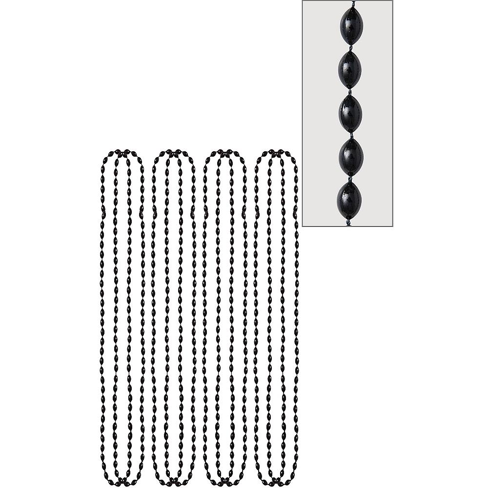 Black Bead Necklaces 8ct Image #1