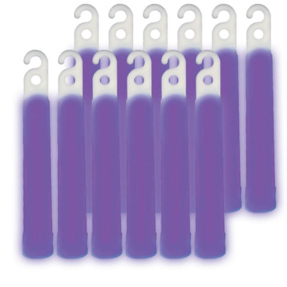 Nav Item for Purple Glow Stick Necklaces 12ct Image #1