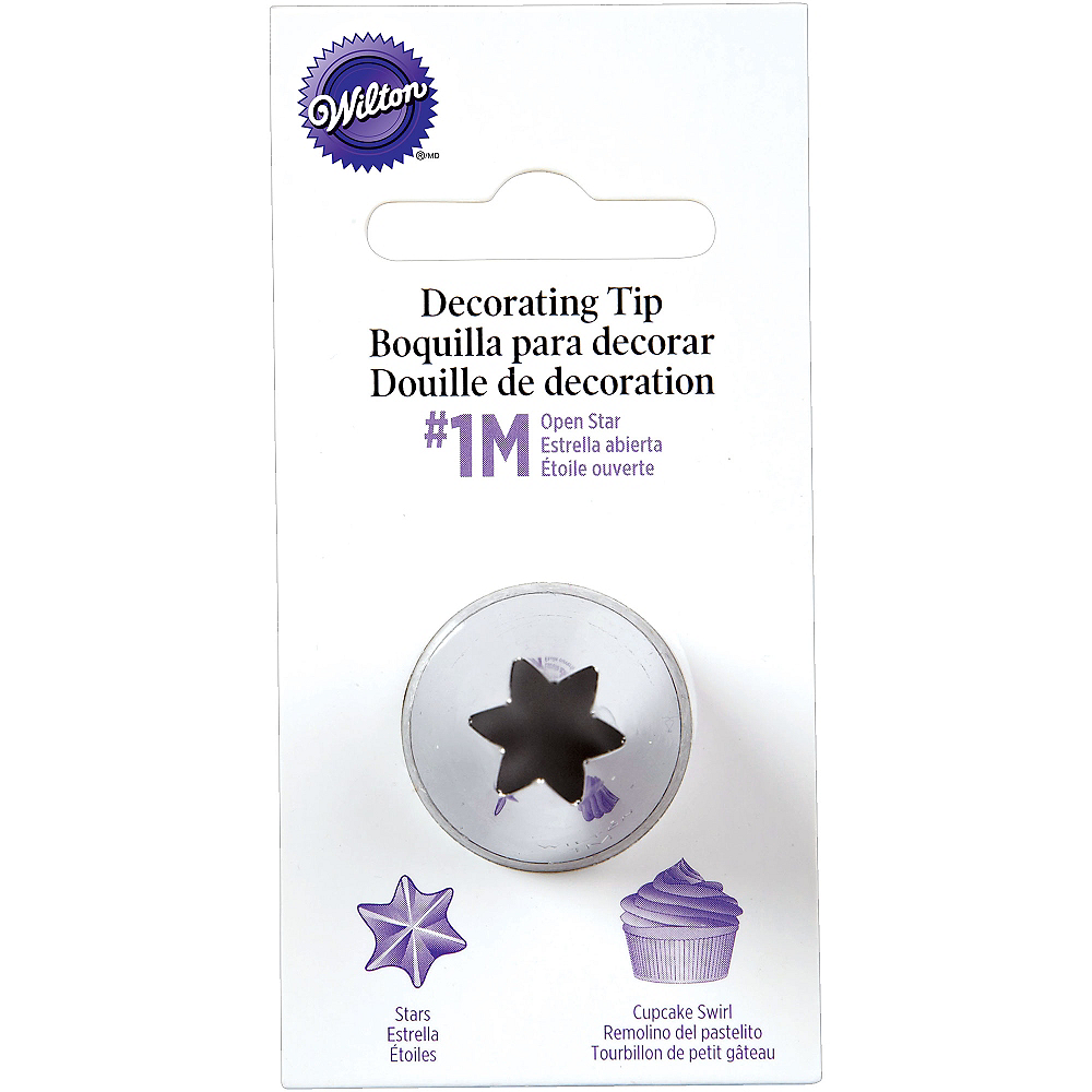 Wilton Open Star Decorating Tip No. 1M Image #1