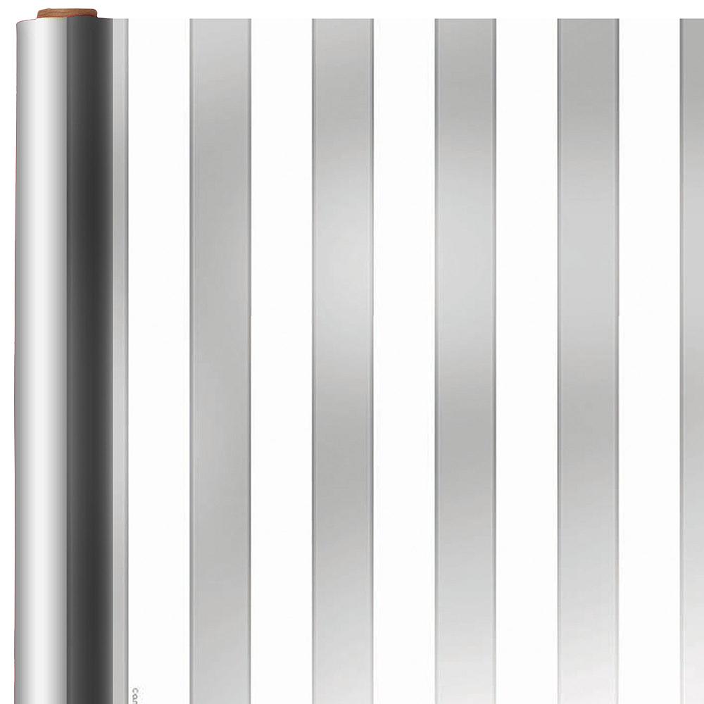 Jumbo Silver Stripe Gift Wrap Image #1
