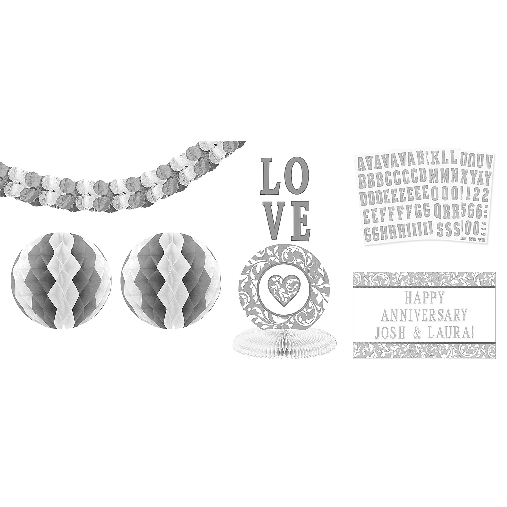 Personalized Silver Decorating Kit 13pc Image #1