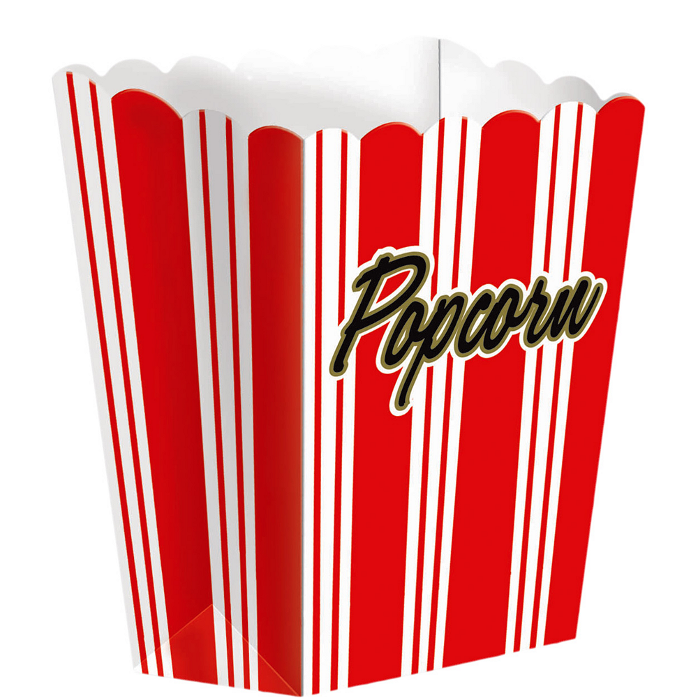 Large Movie Night Popcorn Boxes 8ct Image #1