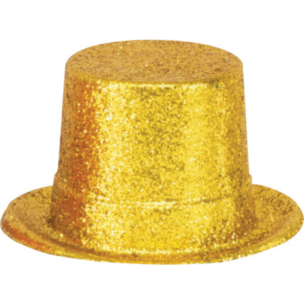 Glitter Gold Top Hat Image #1