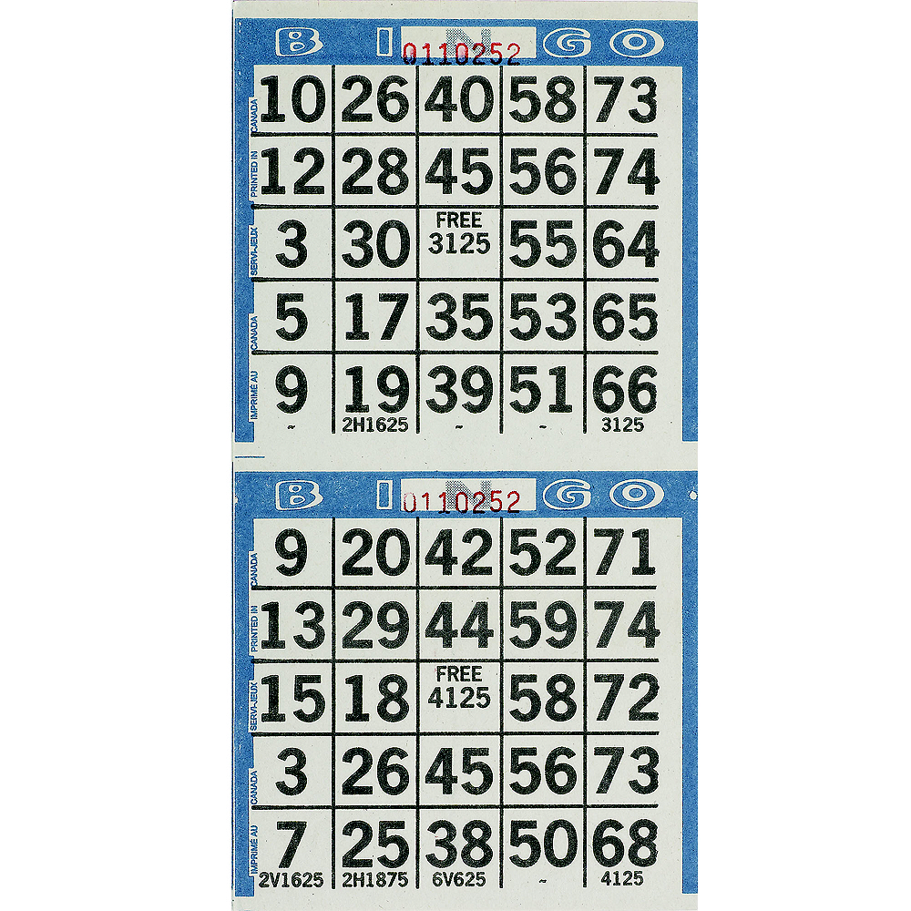 Bingo Game Sheets 125ct Image 1
